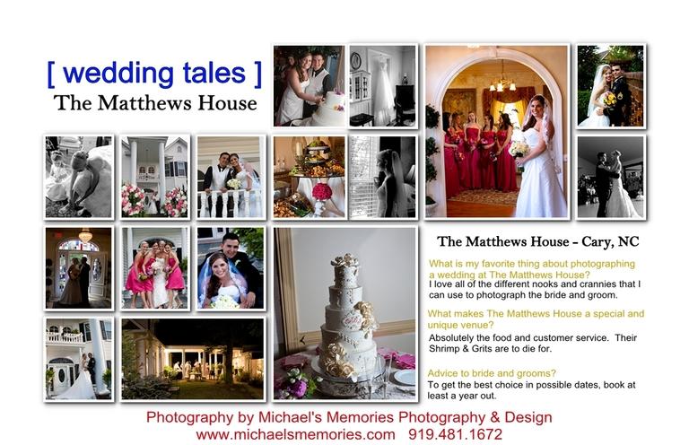 matthews house cary weddings